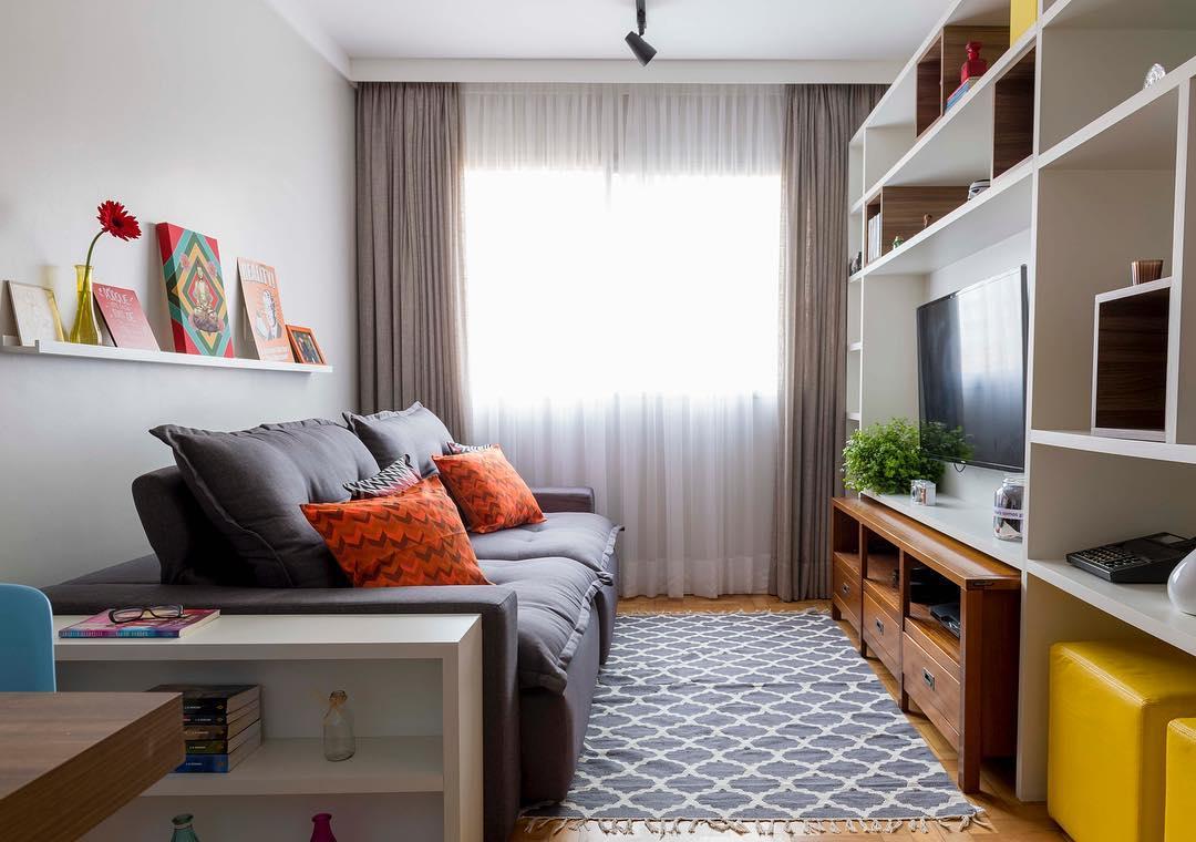Sala Pequena 5 Dicas Para Decorar Tapaj S Engenharia -> Sala Pequena Simples E Aconchegante